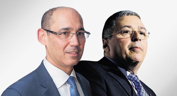 """מימין: מנכ""""ל בנק הפועלים אריק פינטו והנגיד אמיר ירון, צילום: עמית שעל, אוהד צויגנברג"""
