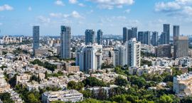 """העיר תל אביב מלמעלה  זירת הנדל""""ן, צילום: Shutterstock"""