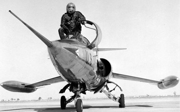 סטארפייטר לאחר טיסת ניסוי, צילום: USAF