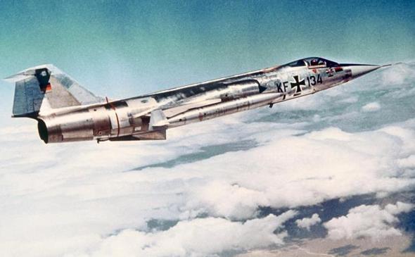 מטוס F104 של חיל האוויר המערב גרמני