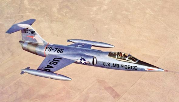 אב טיפוס מתקדם של ה-F104, צילום: USAF