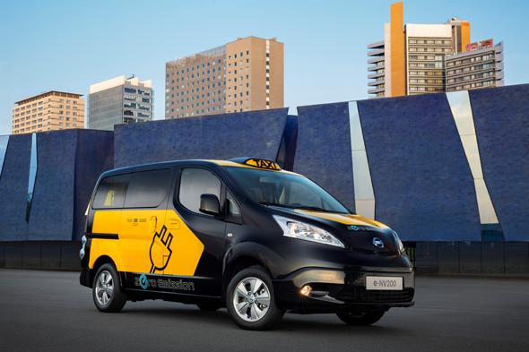 מונית חשמלית של ניסאן מדגם NV200, צילום: יצרן