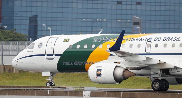 המטוס של נשיא ברזיל באוסקה, יפן