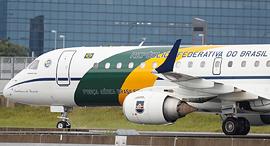 המטוס של נשיא ברזיל באוסקה, יפן, צילום: רויטרס