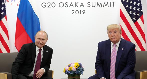 טראמפ ופוטין בפסגת G20, צילום: איי אף פי