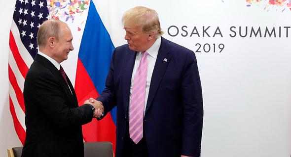 דונלד טראמפ ולדימיר פוטין 20G יפן, צילום: איי פי