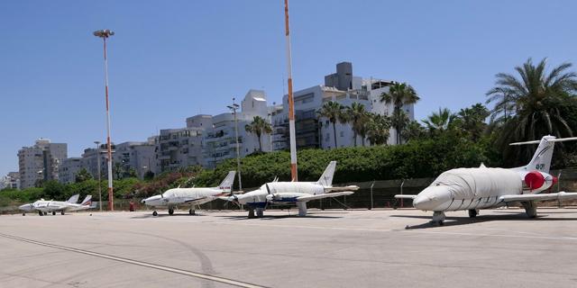 מטוסים פרטיים בשדה דב, צילום: דני שדה