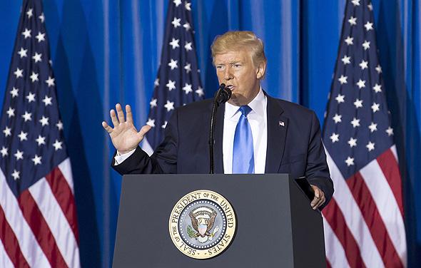 """נשיא ארה""""ב דונלד טראמפ במסיבת עיתונאים פסגת g20, צילום: גטי אימג'ס"""