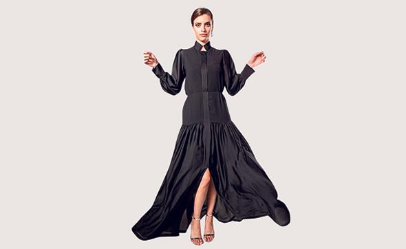 שמלה בעיצובה של חיה הלפרין דביר, צילום: יונתן הלפרין