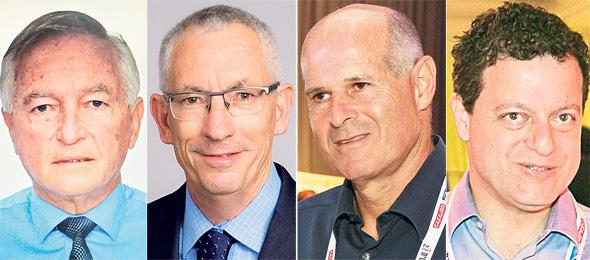 """המועמדים ליו""""ר לאומי, מימין לשמאל: סאמר חאג"""