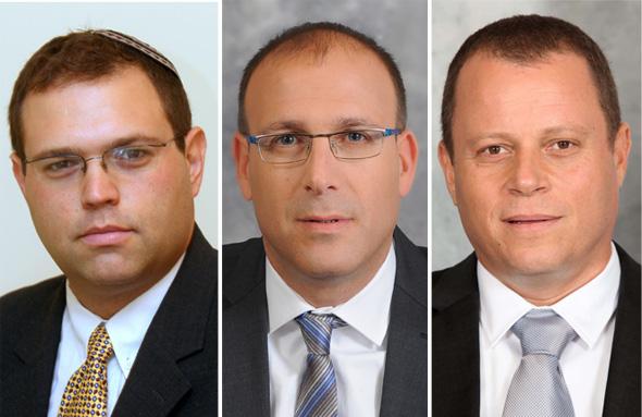אמיר גלעד, עמית אבנר ואריאל סנדר, שנחקרו במסגרת הפרשה, צילומים: סיון פרג