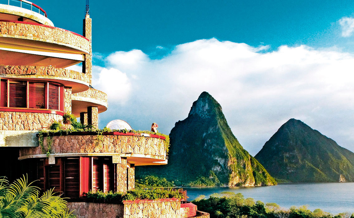 צילום: Jade mountain st lucia