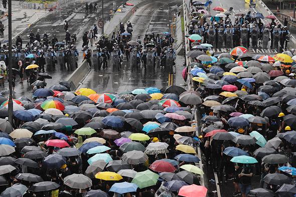 המפגינים בהונג קונג , צילום: איי פי