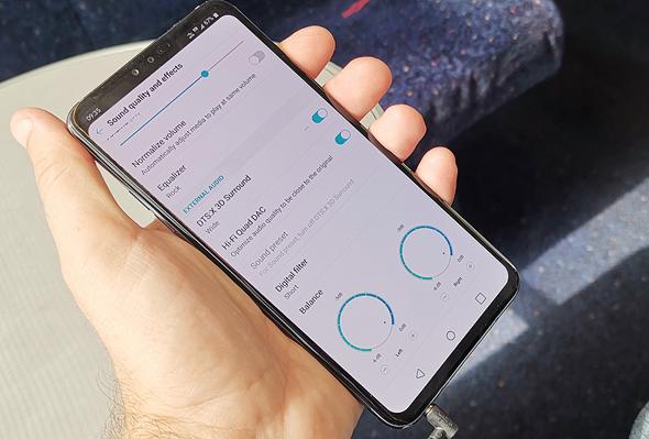 סמארטפון LG V40 מובייל, צילום: ניצן סדן