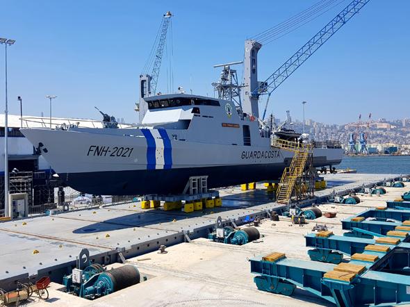 ספינת סער-62 שנבנתה עבור הונדורס, צילום: מספנות ישראל