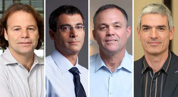 מימין: אורן מונטל, ניר מורוז, סמי בבקוב ויוסי דורי , צילום: אוראל כהן, עמית שעל