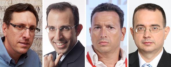 מימין: צבי שיף, אמיר אפרתי, ערן מרדכי ועמית בירמן