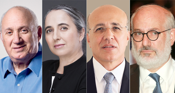 מימין: אדוארדו אלשטיין, משה ברקת, ענת גואטה ואיציק אברכהן