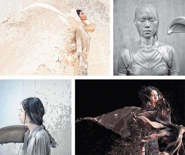 """עבודות מהתערוכה """"בוץ"""". מבוססת על האמונה התאילנדית שלזרוק בוץ משמעו בשורות רעות"""