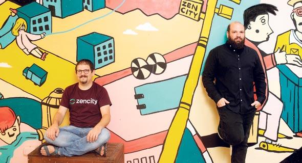 ZenCity CEO Eyal Feder-Levy (left) and CTO Ido Ivry. Photo: Amit Sha'al