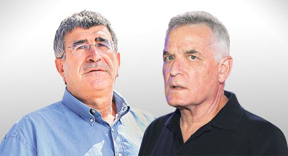 מימין: אברהם ביגר ויונה פוגל