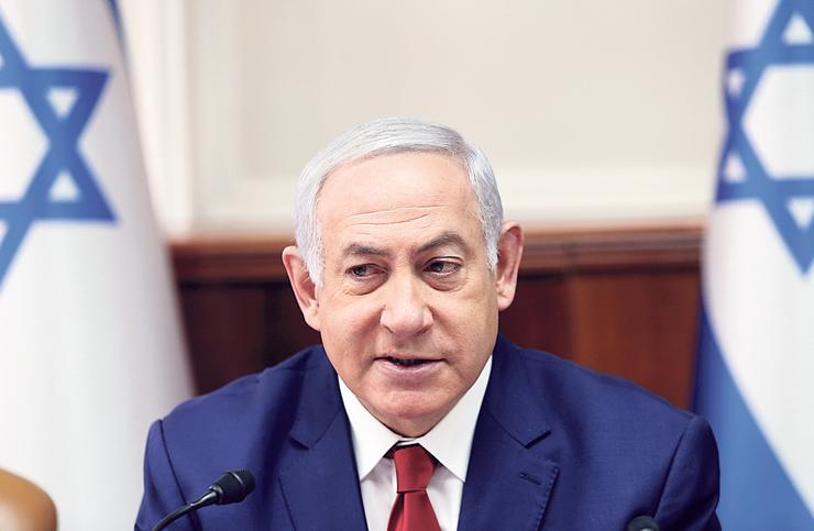 """נתניהו. """"ביום ראשון בבית המשפט, מדינת ישראל נגד נתניהו, ובשני מוביל את מדינת ישראל?"""""""