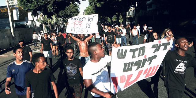 מחאת יוצאי אתיופיה, צילום: אבי מועלם