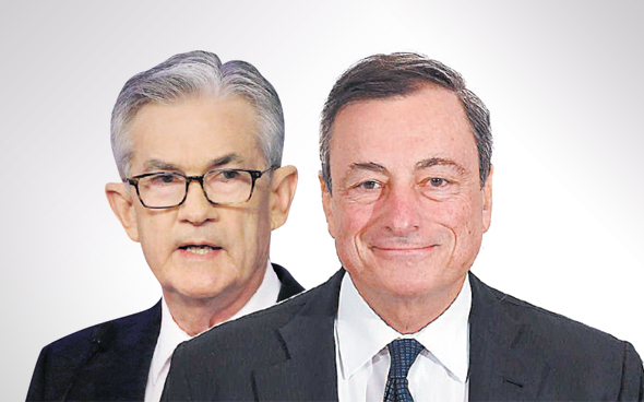 """נשיא הבנק המרכזי האירופי מריו דראגי ויו""""ר הפדרל ריזרב ג"""