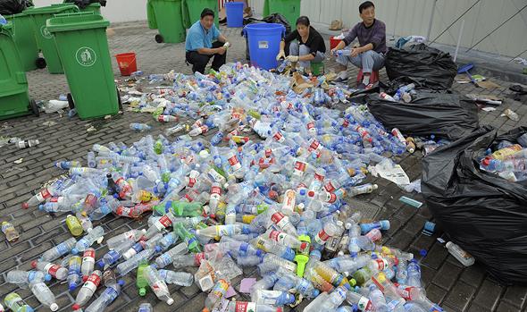 Plastic waste in Shanghai. Photo: Shutterstock