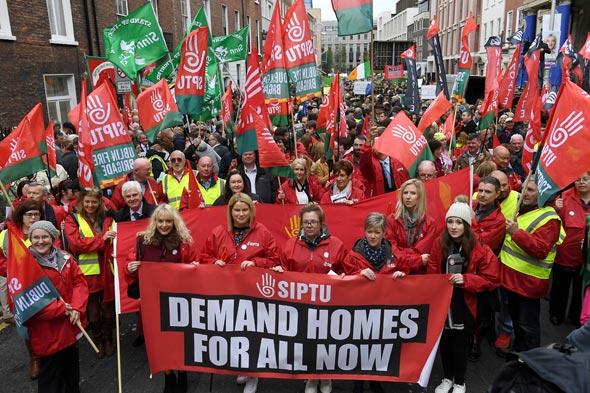 מחאה נגד יוקר הדיור בדבלין