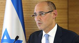 אמיר ירון נגיד בנק ישראל מסיבת עיתונאים 8.7.19, צילום: אלכס קולומויסקי