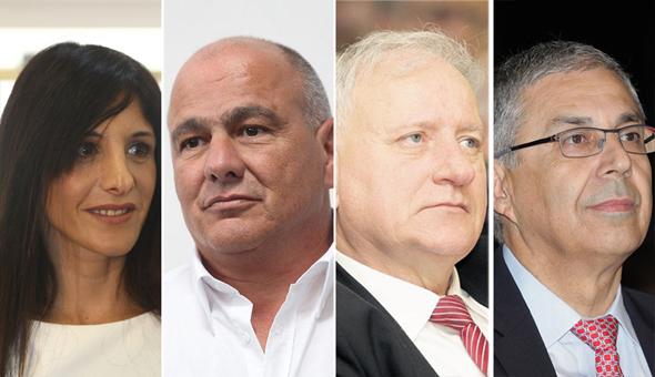 מימין: ציון קינן יאיר סרוסי, דני דנקנר ואפרת פלד