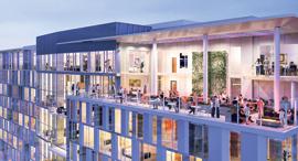 מוסף שבועי 11.7.19 הדמיות של הבניין השיתופי שמקימה סטארסיטי ב סן חוזה , צילום: באדיבות starcity