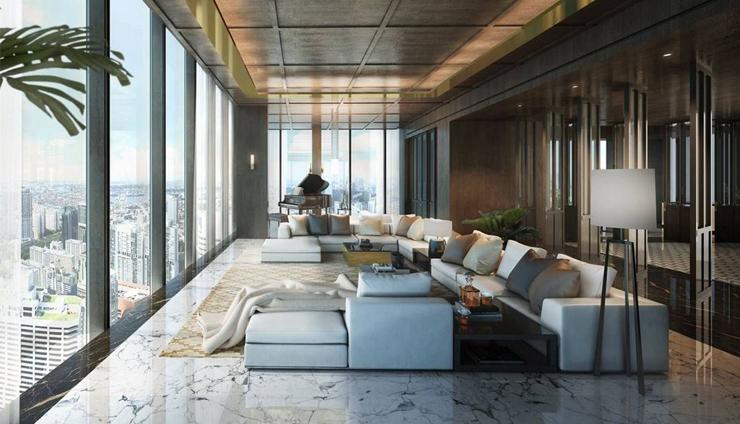 פינת ישיבה , צילום: Wallich Residence