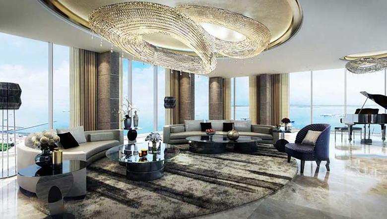 הסלון, צילום: Wallich Residence