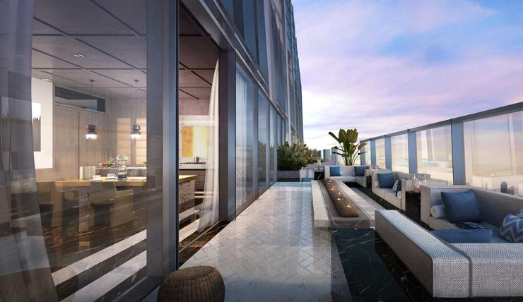 המרפסת, צילום: Wallich Residence