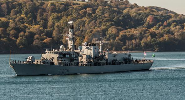ספינת הצי הבריטי HMS Montrose. נחלצה לעזרה, צילום: shutterstock