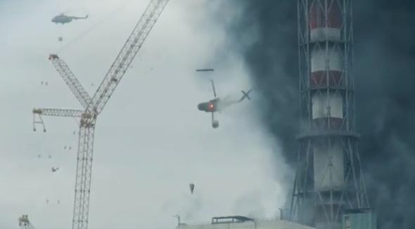 התרסקות המסוק מעל ארובת התחנה, מתוך הסדרה צ