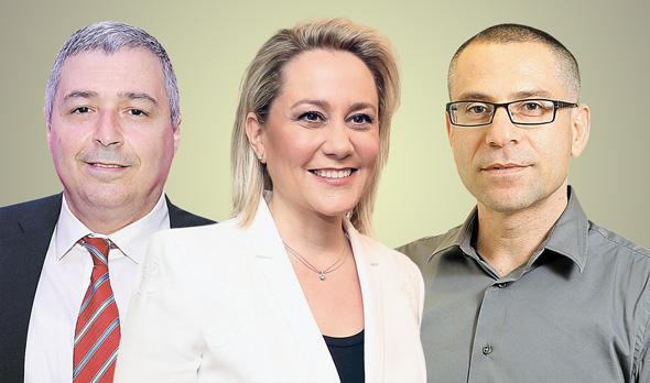 מימין: ערן יעקב, לילך אשר טופילסקי ואריק פינטו