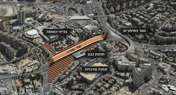 השינויים בהסדרי התנועה בכניסה לירושלים, כביש 1, באדיבות פרויקט הכניסה לעיר