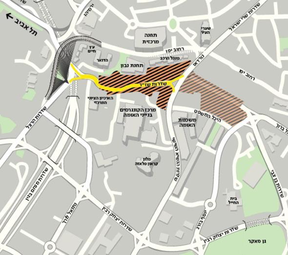 השינויים בהסדרי התנועה בכניסה לירושלים - כביש 1, באדיבות פרויקט הכניסה לעיר