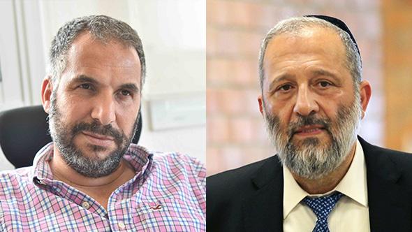 מימין: שר הפנים אריה דרעי ורון קובי ראש עיריית טבריה