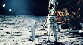 הקברניט 50 שנה נחיתה על הירח חלל אסטרונאוטים, צילום: NASA