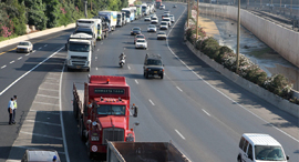 מחאה של נהגי ה משאיות, צילום: אוראל כהן