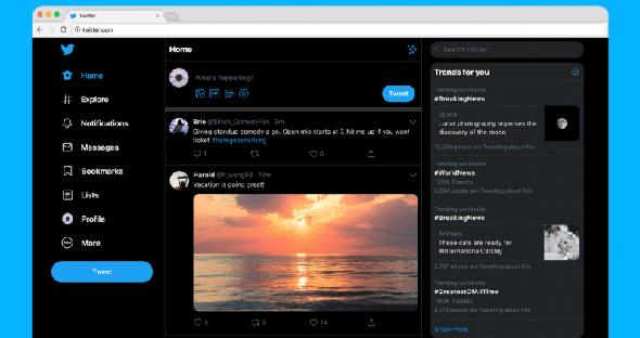 העיצוב החדש של טוויטר