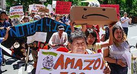 מחאת עובדי אמזון, צילום: גטי אימג'ס