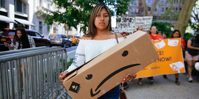 אמזון מחאה עובדים פריים דיי, צילום: גטי