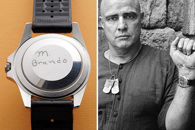 מררלון ברנדו בצילומי אפוקליפסה עכשיו עם השעון