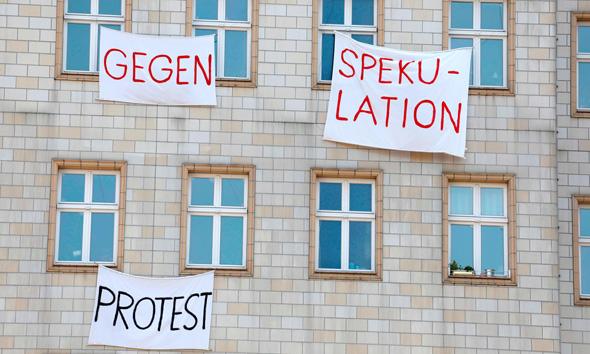 מחאת הדיירים בברלין נגד עליית שכר הדירה