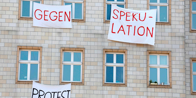 מחאה בברלין נגד התייקרות הדירות, צילום: AFP